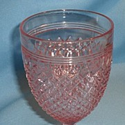 Miss America Depression Glass Pink Water Goblet