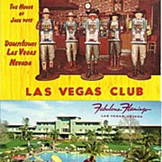 Three Las Vegas Nevada Postcards: Las Vegas Club; Fabulous Flamingo; and Joe W Brown's ...