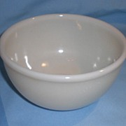 "Fire-King Ivory Beaded Edge 6"" Mixing Bowl"
