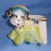 Vintage Ceramic Fashions by OPCO Poodle Dog Planter