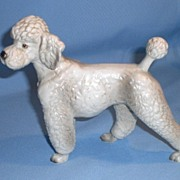 Ceramic White and Gray Poodle