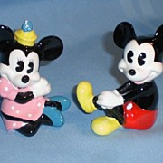 Disney Mickey and Minnie Ceramic Figurines - Taiwan