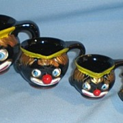 SOLD Black Americana Thames Clown Measuring Cups