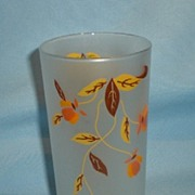"Autumn Leaf Jewel Tea 5-1/2"" Frosted Tumbler"