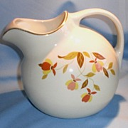 Hall China Autumn Leaf Jewel Tea Ball Jug/Pitcher