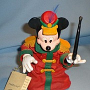 KSA Collectibles Fabriche Christmas Band Leader Mickey Mouse