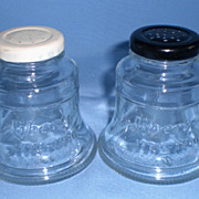 Liberty Bell Glass Salt and Pepper Shakers