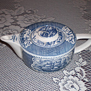 SOLD Royal China Currier & Ives Blue Teapot