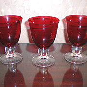 SALE PENDING Lenox Crystal Ruby Red Holiday Gems Water Goblet