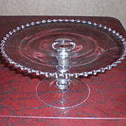 Imperial Glass Ohio Candlewick Tall Cake Stand/Plate