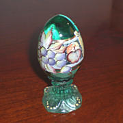 Beautiful Fenton Egg on Pedestal by D. Fredrick