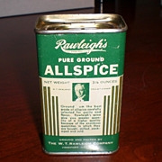 Rawleigh's Green Advertising Allspice Spice Tin (1930's)