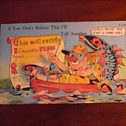 Comic/Humorous Postcard Fishing Postcard