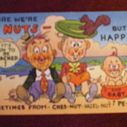 Comic/Humorous Postcard - Sure We're Nuts But Happy!