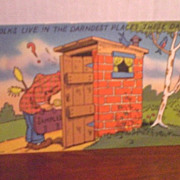 Comic/Humorous Postcard - Outhouse Humor