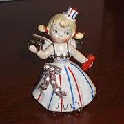 SOLD Lefton July Birthday Angel
