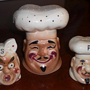 Black Americana Chef Salt, Pepper and Toothpick Holder