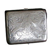Vintage Sterling Silver Cigarette Case-R Blackinton & Co.