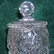 Vintage Cut Glass Jelly Jar with Lid
