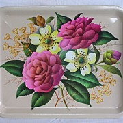 British Made Tin Tray Floral Design