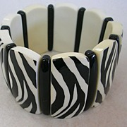 Zebra Stripe Stretch Thermoplastic Bracelet