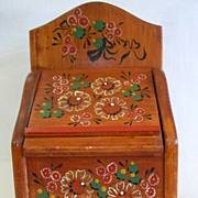 Charming Tole Painted Recipe Box
