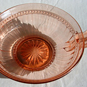 Unique Imperial Glass Pink Depression Single Handled Dish