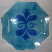 Vintage Art Glass Octagonal Plate