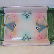 Decorative Artist Signed Stoneware Serving Dish