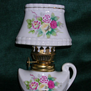 Charming  Mini Oil Lamp with Fancy Shade