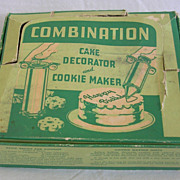 Vintage Cake Decorator and Cookie Maker in Original Box