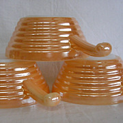 Vintage Fire King Copper Tint French Casseroles