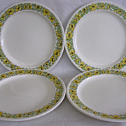 Taylor Smith Taylor Buttercup Pattern Dinner Plates