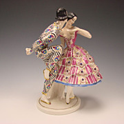 Art Deco c1913 Claire Volkhart Schwarzburger German Figurine Group