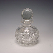 Antique Cut Glass ABP Caned Pattern Perfume Scent Bottle c1900