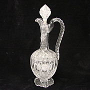 SALE Antique ABP Cut Glass Crystal Decanter