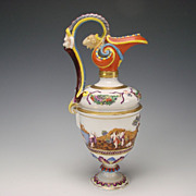 Antique Ginori Figural Porcelain Pitcher Ewer Vase