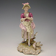 SALE Antique Dressel Kister & Cie German Porcelain Figural Group Figurine c1900