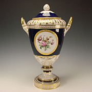 "Antique KPM Berlin Porcelain German Lidded Urn Vase 17"" HUGE"