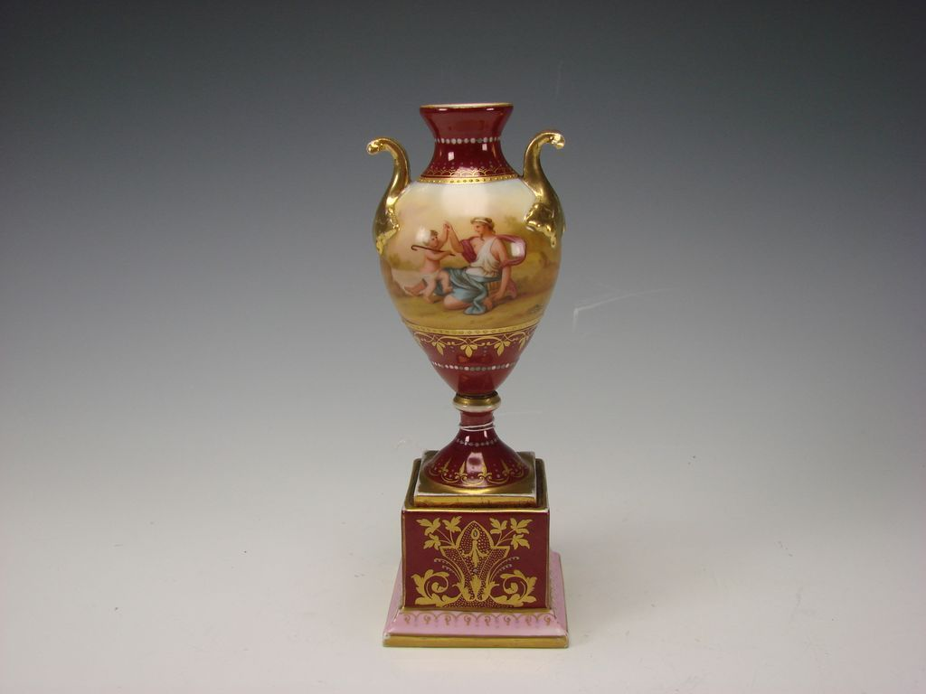 Antique Royal Vienna Austrian Porcelain Vase