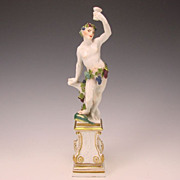 Fabulous Antique Meissen Bacchus German Porcelain Figurine  c1740