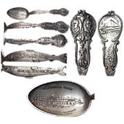 Figural Fish 1905 Lewis & Clark Exposition Sterling Souvenir Spoon