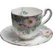 Hand Painted Adderley Floral Demitasse Cup & Saucer