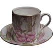 Royal Albert Early Demitasse Cup & Saucer w/ Apple Blossoms
