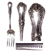 Beautiful Rosemary Pattern Meat Serving Fork