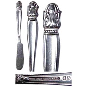 Holmes & Edwards Danish Princess Silverplated Pattern Ind Butter Knife