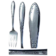 King Edward Pattern National Silver Co. 1951 Meat Fork