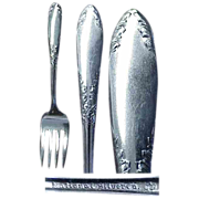 King Edward Pattern National Silver Co. 1951  / 6 Salad/Dessert Forks