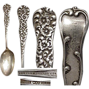 Heavy Dominic & Haff Floral Rococo 1888 Sterling Spoon