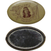 Pocket Mirror with Indian Maiden from Spokane Washington